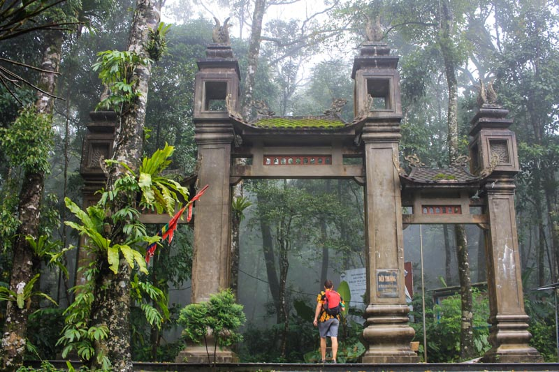 Ho Chi Minh, Temple Entrance, Ba Vi National Park