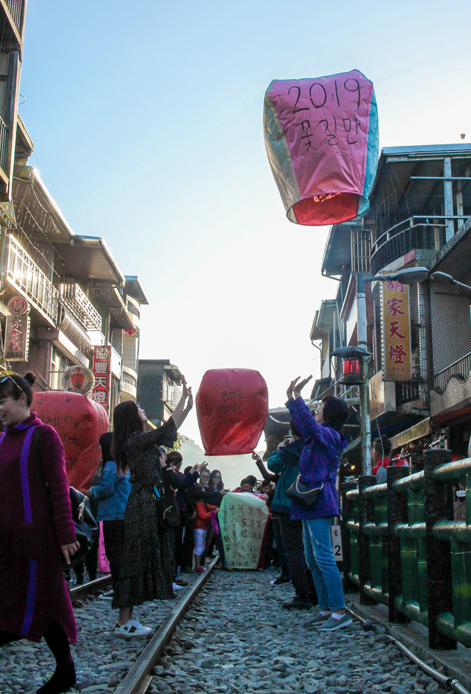 Lanterns in Shifen, Taiwan